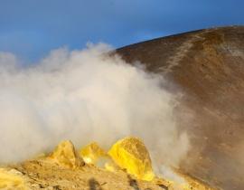 wyziewy gazów na Vulcano